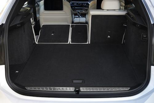 Med 610-1 800 liter bagageutrymme är 6-serie GT rymligare än 5-serie Touring.