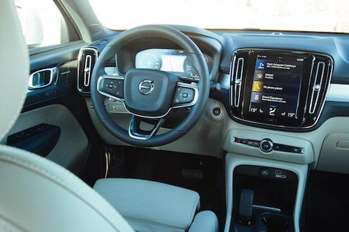Sensus-skärmen är exakt lika stor och fungerar på samma sätt som i 90-bilarna.
