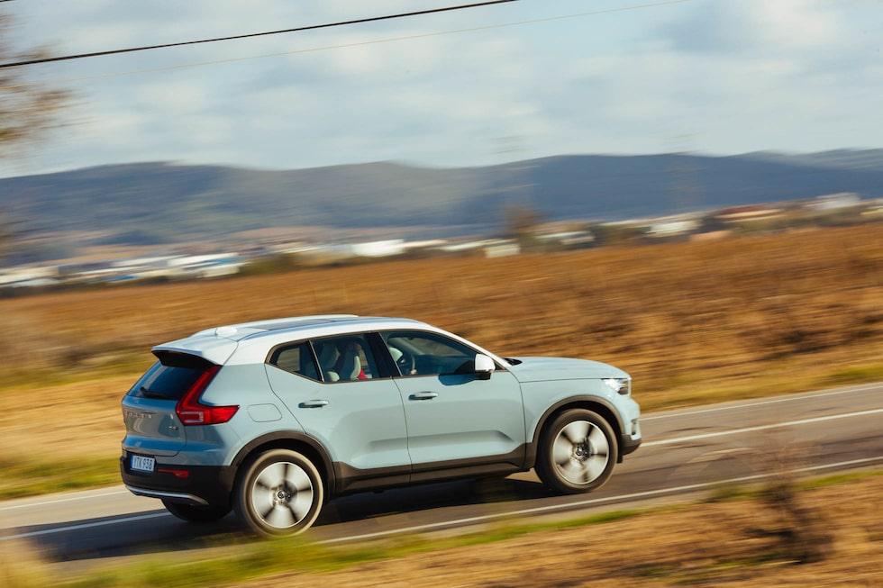 Volvo tycker att XC40 ska ses som en suv, inte crossover. Markfrigången är höga 21 cm.