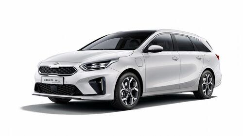 Kia Ceed Sportswagon Plug-in Hybrid. Fronten skiljer sig något från vanliga modellen, bland annat med mer aerodynamisk grill.