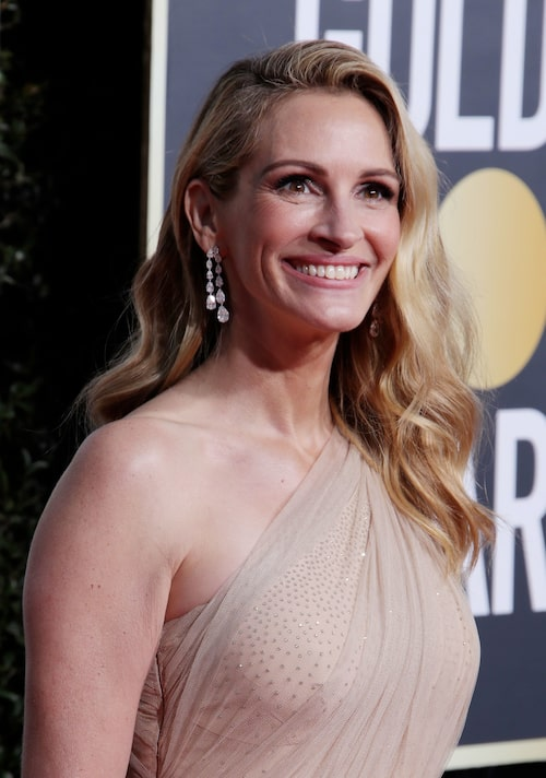 Julia Roberts på Golden Globes-awards.
