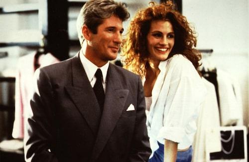 """Julia Roberts tillsammans med Richard Gere i succéfilmen """"Pretty Woman""""."""
