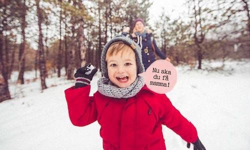 Har det snöat? Varför inte utmana barnen på ett snöbollskrig eller snögubbs-byggande!