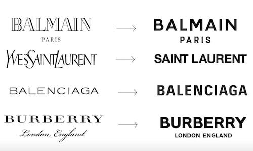 Ibland kan det vara så att ett märke byter logga för att den helt enkelt ska se mer modern ut. Ett flertal modehus har använt sig av typsnittet Sans Serif på sistonde. Likheten är slående!