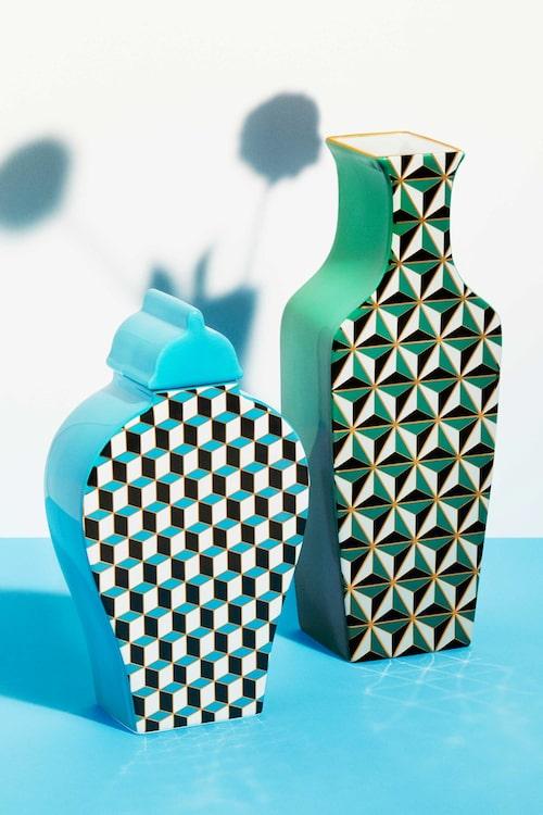 Den gröna vasen är en av Marie Wärmes favoriter.