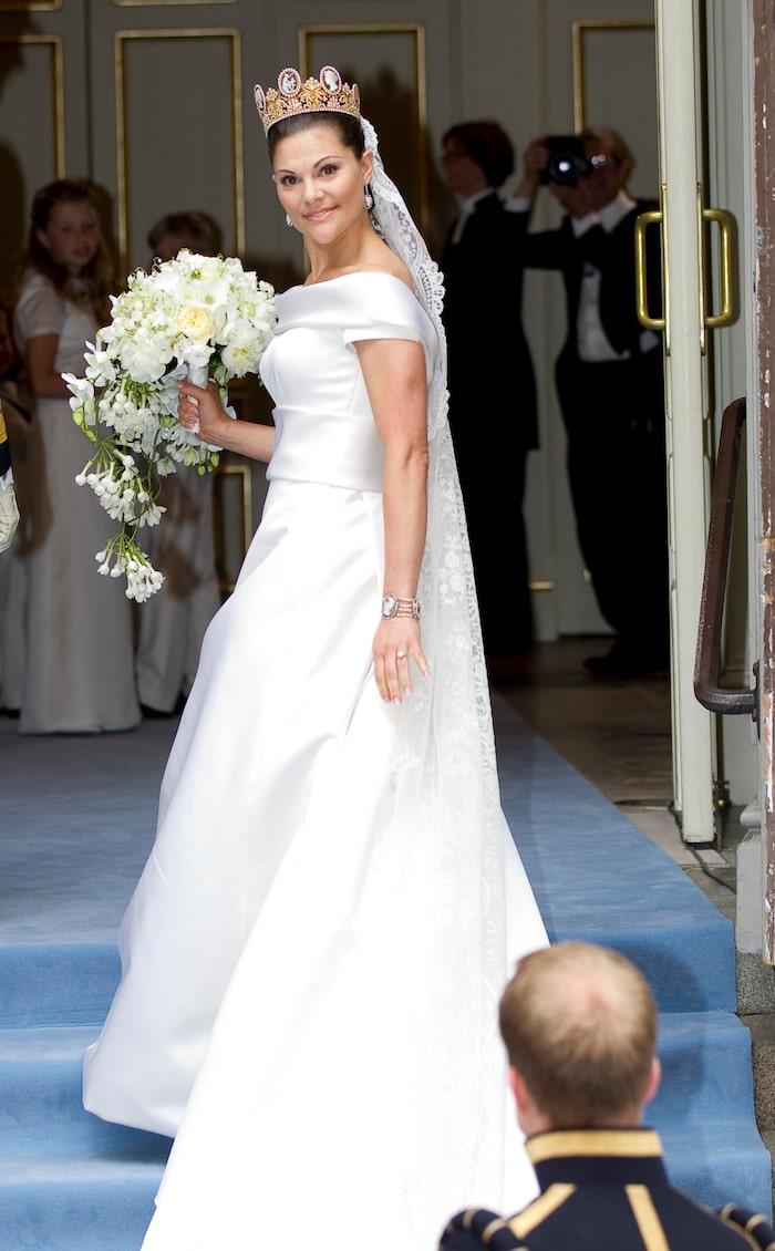 Kronprinsessan Victorias klänning var designad av Pär Engsheden.