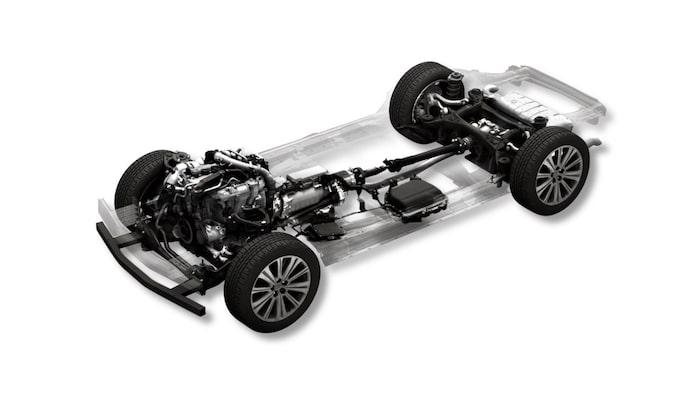 Bensinmotor med 48-volts mildhybridteknik.