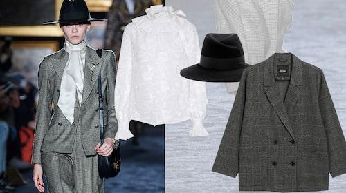 Blus från Custommade, hatt från Maison Michel/My Theresa, hatt från Maison Michel/My Theresa.
