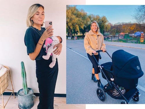 """""""Mitt mindset inför att bli mamma var att släppa alla förväntningar och föreställningar och lita till min kropp och mitt inre"""", berättar Josefin,"""
