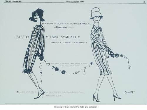 Den första Missoni-annonsen publicerades 1958.
