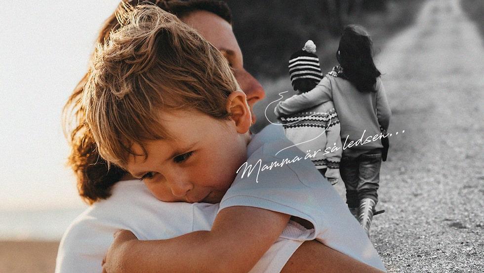 Hur sörjer man sin egen mamma, samtidigt som man har barn att ta hand om? (Personerna på bilden har inget med texten att göra)