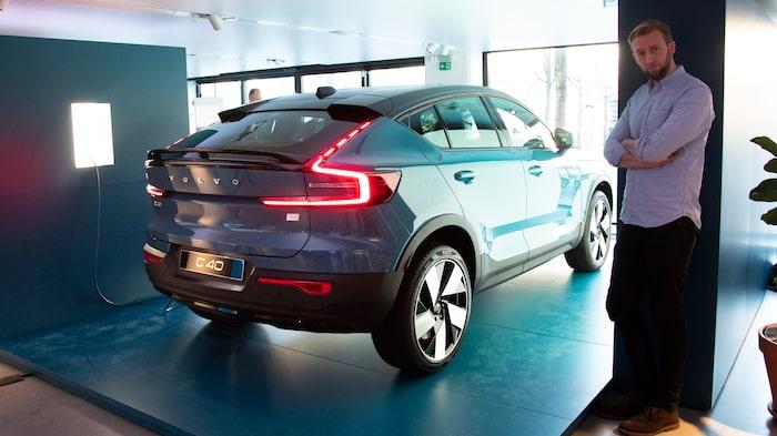 Teknikens Världs Erik Wedberg är på plats vid världspremiären av Volvo C40 Recharge...