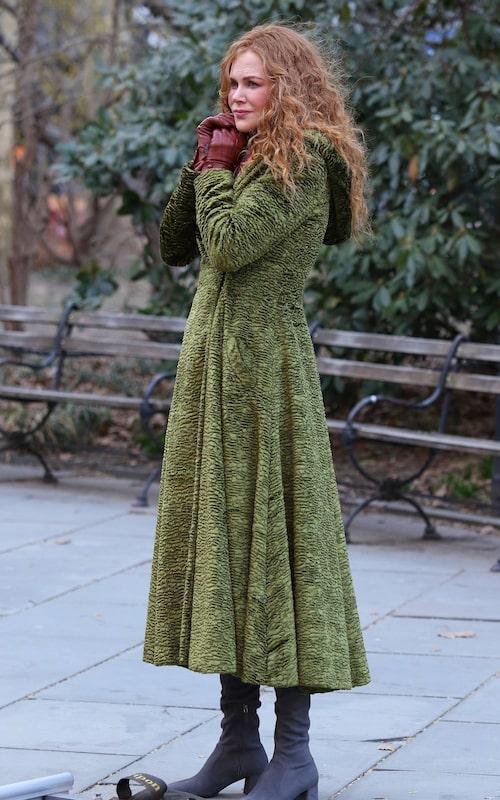 Gör den gröna kappan i The Undoing Nicole Kidman till lajvare eller lyxbohem?