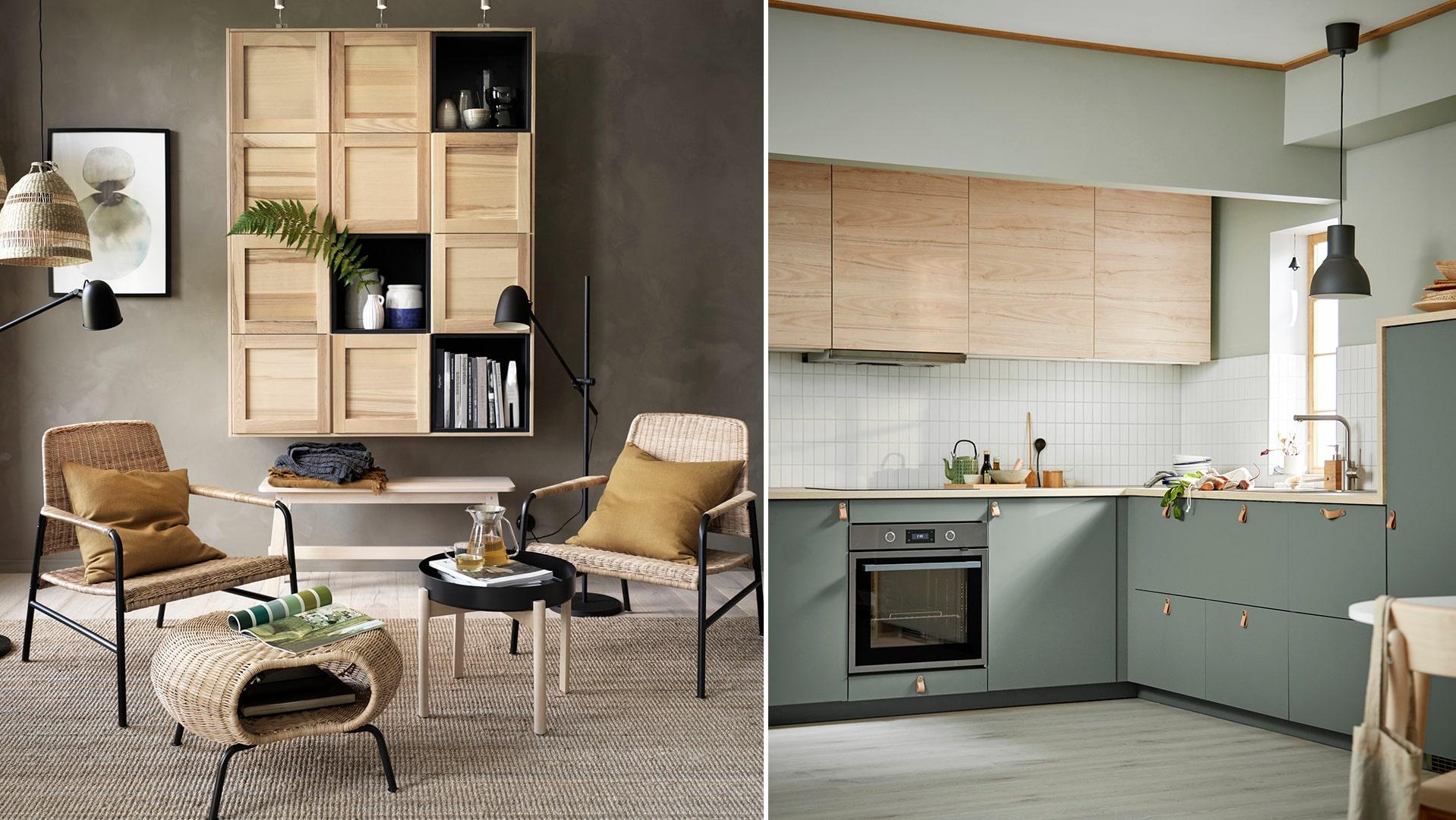 Förvaring och naturmaterial i nya Ikea katalogen 2020