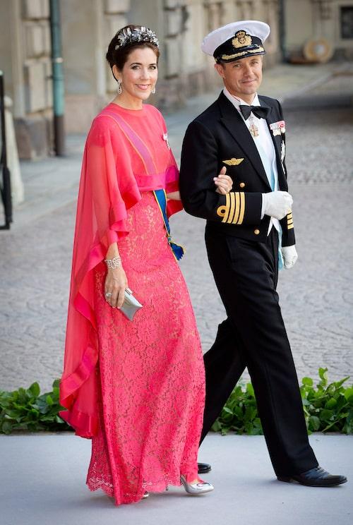Prinsessan Mary på Madeleines bröllop 2013.