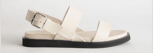 Slingback-sandaler med grov sula.