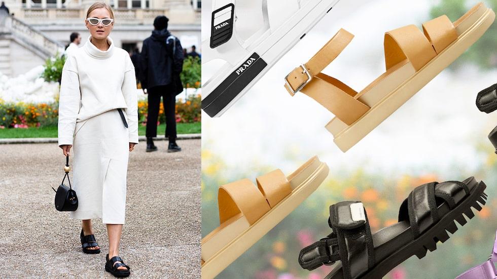 Fotriktiga sandaler med klumpig sula – bästa köpen sommaren 2020.
