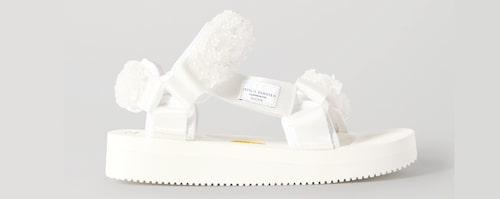 Vita sandaler för dam 2020.