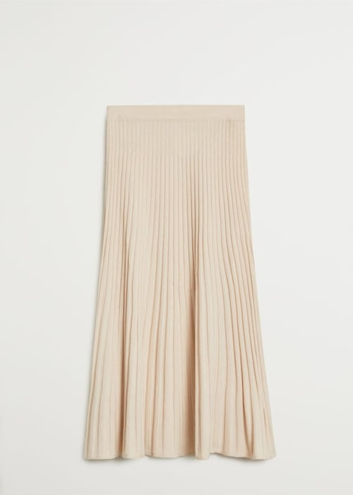 Plisserad stickad kjol från Mango.