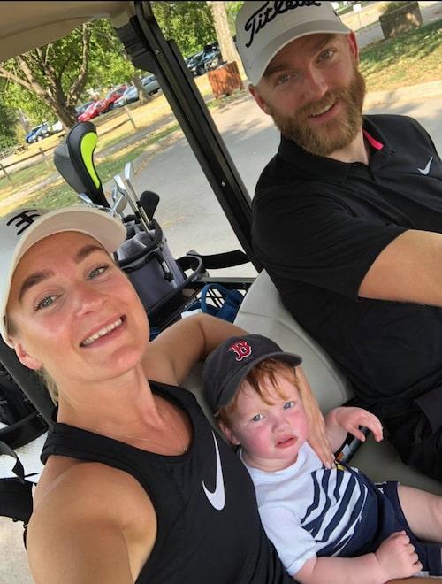 Ida och Mattias (och sonen William!) har sportintresset gemensamt.