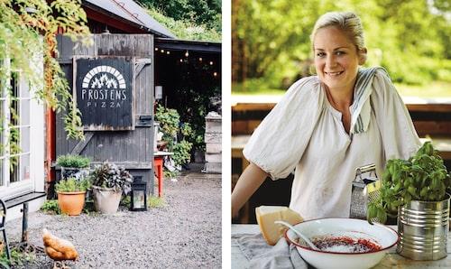 Lisa Lemkes är med och driver Prostens pizza i Falkenberg.