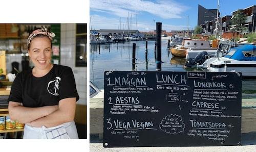 Sandra Mastio driver pizzerian Mastio i Limhamn, Skåne.