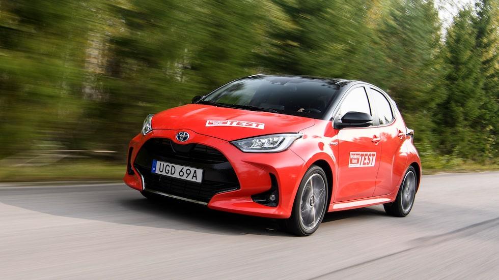 Nya Toyota Yaris i Teknikens Världs test.