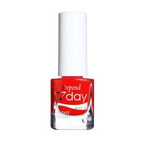 Klarrött nagellack från Depend.
