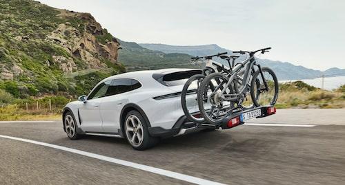 Ingen dragkrok, däremot en speciellt utvecklad cykelhållare.