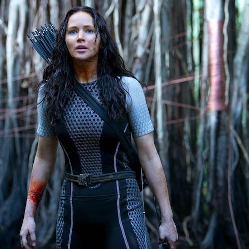 Jennifer Lawrence som Katniss i filmatiseringen av Hungerspelen-trilogin.