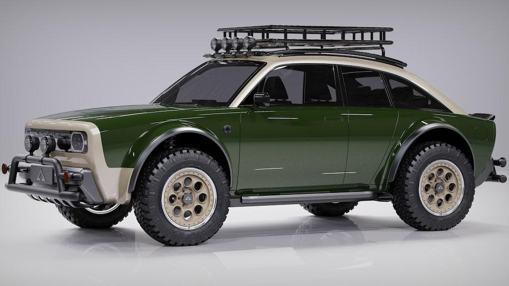 Lite Porsche 911 Safari-vibbar ger den allt, denna elektriska retrobil.