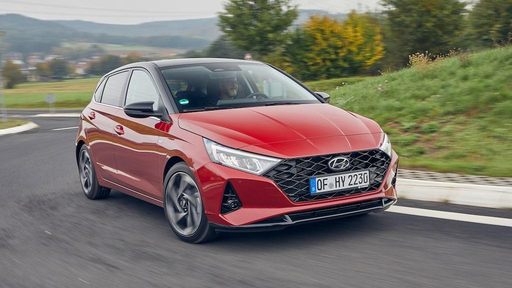 Tredje generationens Hyundai i20 har helt nytt formspråk med egen identitet. Bred frontgrill.