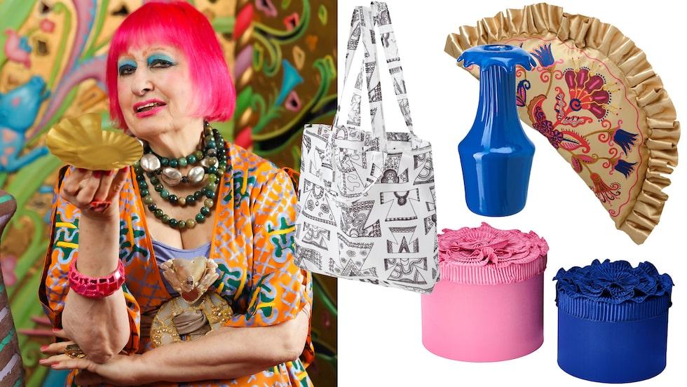 Ikoniska designern Zandra Rhodes har skapat en kollektion för Ikea.