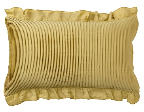 Guldigt kuddfodral, Karismatisk, Zandra Rhodes för Ikea.