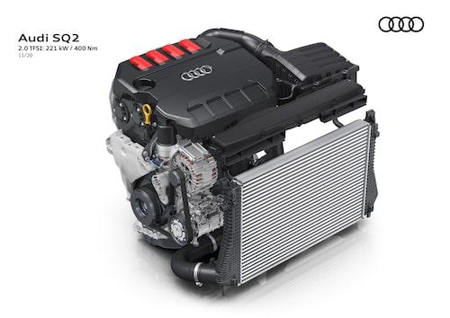 EA888-motorn i Audi-förpackning.