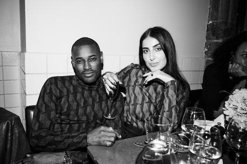 Skönhetsentreprenören och modellen Roger Dupé och Chimi Eyewears Tina Misaghi.