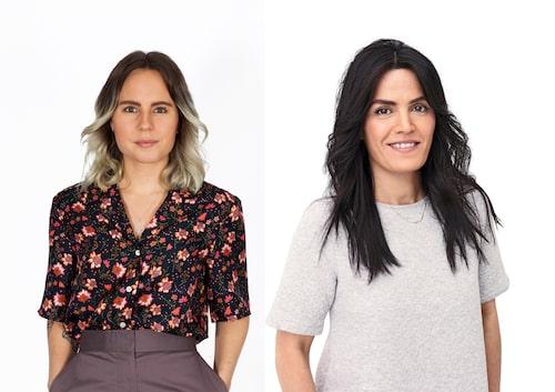 amelia-teamet Lina Johansson och Shada Gharib ger Linda en ny stil.