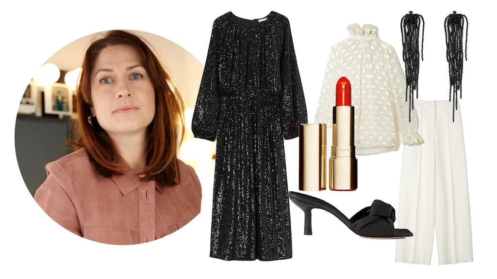 Modechefen tipsar om plagg och accessoarer att bära till nyår.