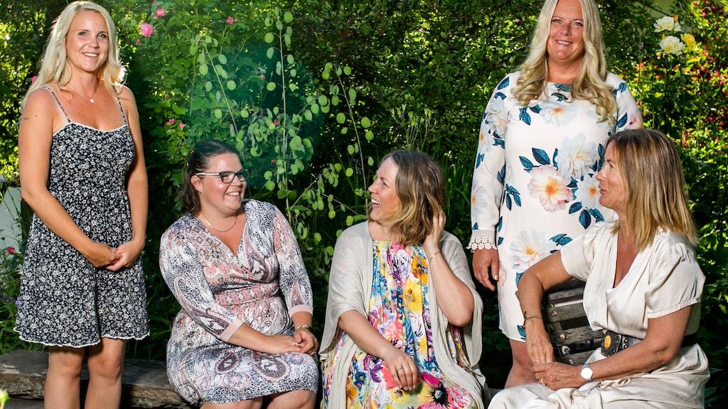 Under flera intensiva veckor i våras arbetade sjuksköterskorna Caroline Thumén, Sophia Wikbro, Helén Bjurberg, Ann Wretman och Tina Tisell ihop.