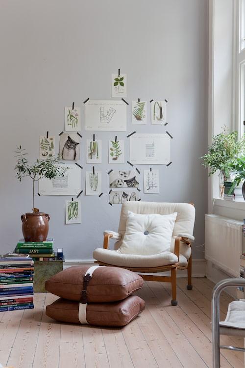 En känsla av frihet präglar 70-talsinredningen. Möblerna har hjul, så att man ska kunna rulla runt dem och erövra hemmet som man vill.