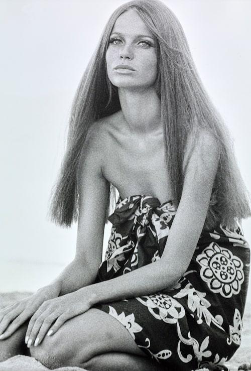 Modellen och hårikonen Veruschka på 1960-talet.