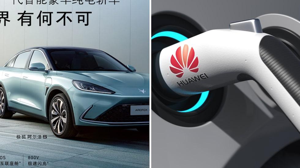 Huawei har redan minst en fot inne i bilindustrin, bland annat innehåller elbilen Arcfox Alpha S teknik från den kinesiska techjätten.