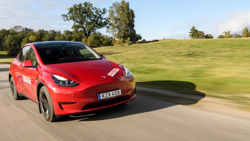 De Tesla Model Y som säljs i Sverige i höst byggs i Kina.