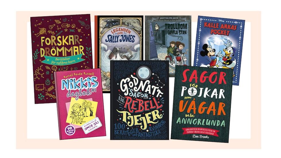Många spännande och utvecklande böcker för de lite äldre barnen. Boktips för barn mellan 6 och 9 år.