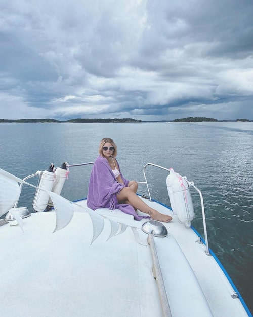 """""""Vi köpte båten när barnlängtan tyngde våra hjärtan och distraherade oss med att renovera den"""", säger Natali."""