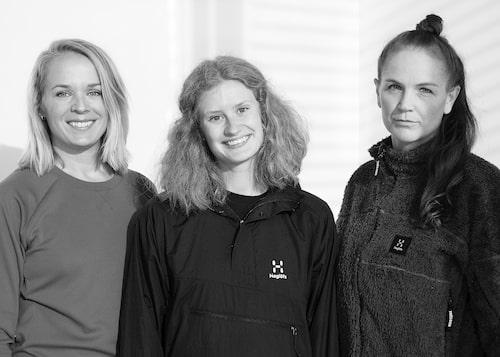 Angelica Lindersson, Johanna Jonasson och Jenny Kjellbom.