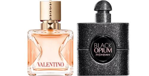 Voce Viva Intensa eau de parfum från Valentino. Black Opium Extreme eau de parfum från Yves Saint Laurent.