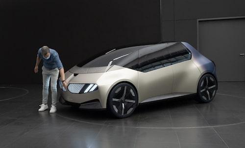 Elektriska konceptbilen BMW i Vision Circular som presenterades för några veckor sedan.