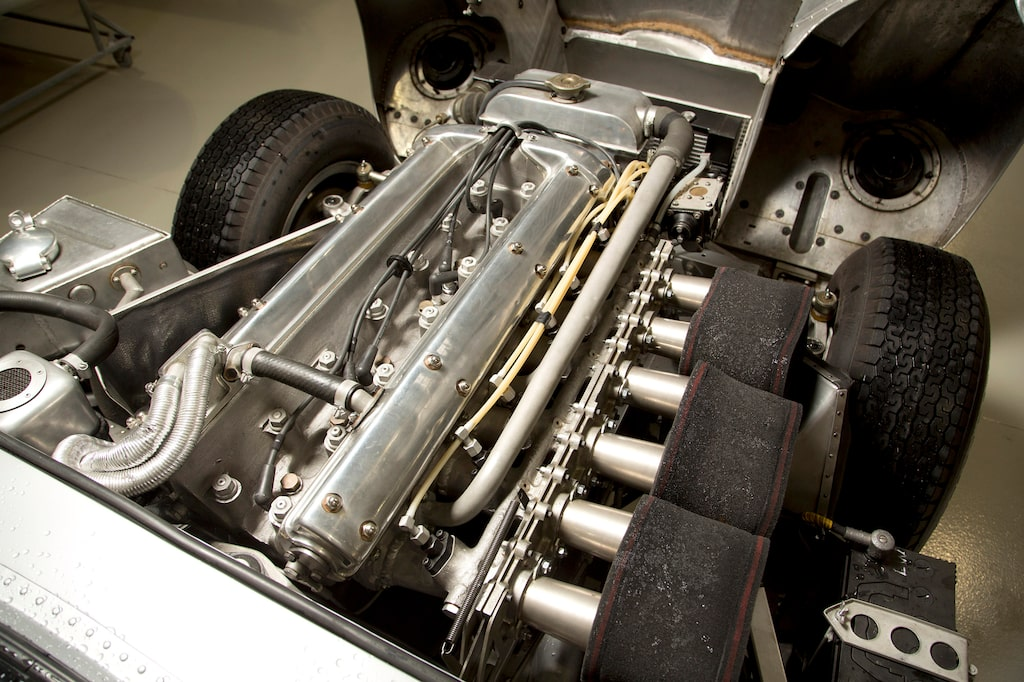 Motorn i Low Drag Coupé var den starkaste tävlingssexan som Jaguar någonsin byggde.