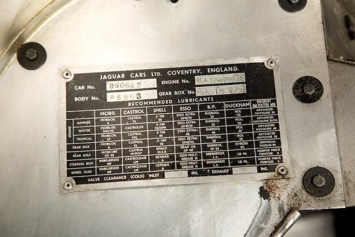 Chassinummer 850662, där sitter historien på en liten aluminiumplatta.